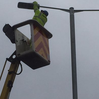light being fixed